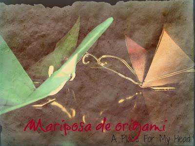 Imán Mariposa de origami
