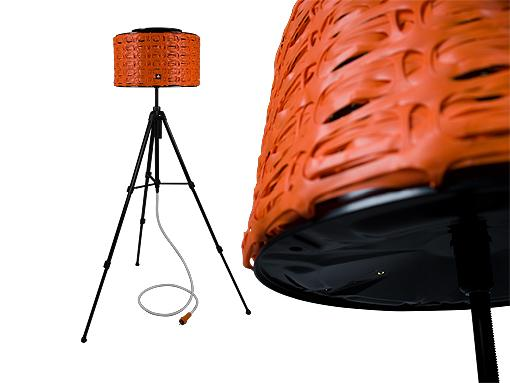 lampara pie netorange Lámparas de Diseño Recicladas