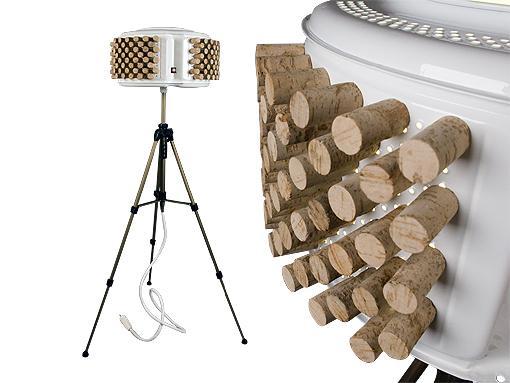 lampara de pie corcho Lámparas de Diseño Recicladas