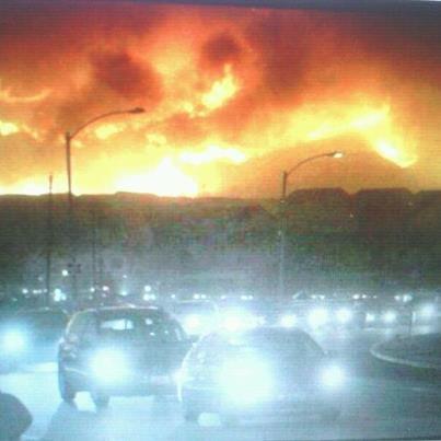 Foto: Desalojando ojen  evacuating ojen