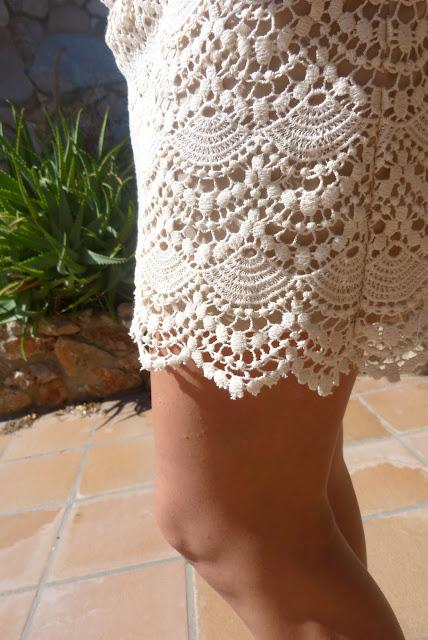 Crochet Skirt + Pink Watch