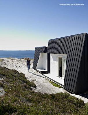 Diseño de casa nórdica en madera.