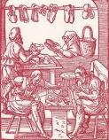 Taller de zapatería en la Edad Media - imágenes Google