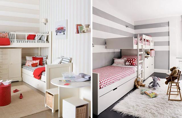 Inspiracion exterior dormitorios infantiles compartidos paperblog - Dormitorios infantiles dos camas ...