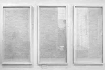 Obra de la exposición 'Paraitre', Nicènce Kossentini. Galería Sabrina Amrani.