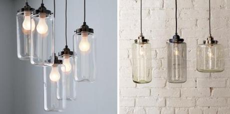 Lámparas colgantes de cristal