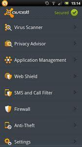 Aplicaciones Android Gratis - Avast Mobile Security