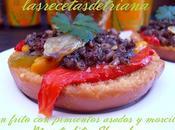 frito pimientos asados morcilla (Montadito Shandy)