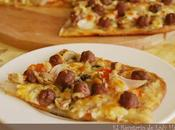 Pizza casera mini albóndigas carne