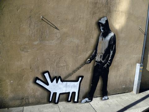 Animan obras de Banksy