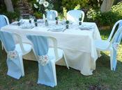 Mesa comunión bautizo rosa celeste
