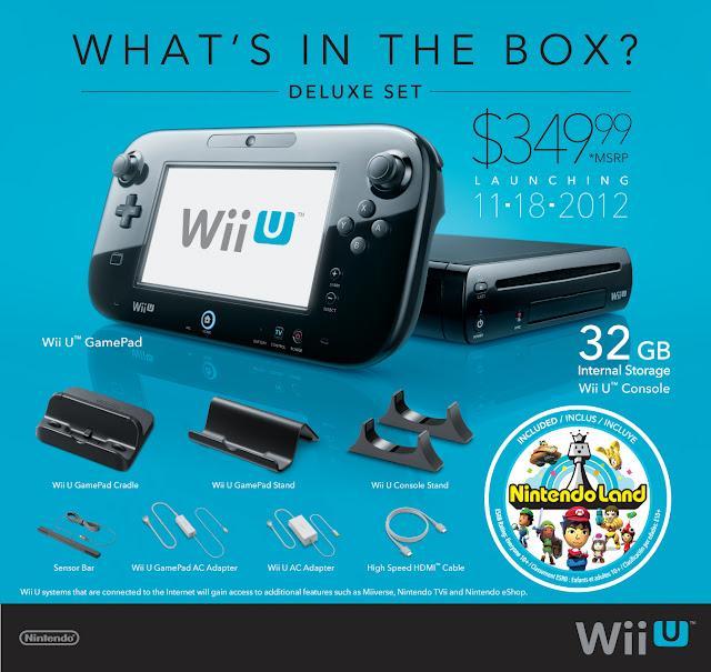 Nintendo Revela Precios y Paquetes del Wii U para las Américas