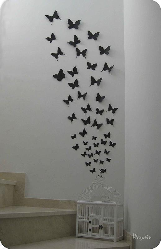 Mi pared favorita mariposas de papel de gemma paperblog for Ideas creativas para el hogar