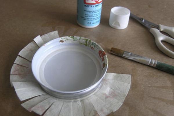 tapa forrada con papel