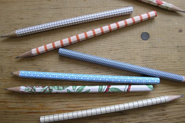 lapiceros forrados con papel
