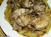 Pollo ajillo patatas