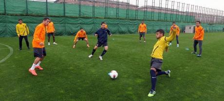 Entrenamiento de recuperación de Tito Vilanova
