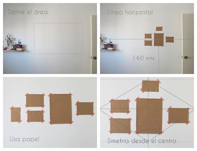 Comparte tus trucos 10 tips para colgar cuadros paperblog - Composicion marcos pared ...