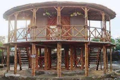 Casa redonda de bamb paperblog - Casa de bambu madrid ...
