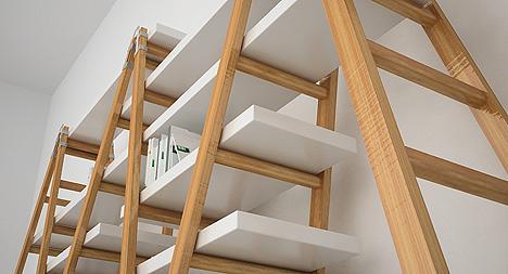 Una librera hecha con escaleras Paperblog