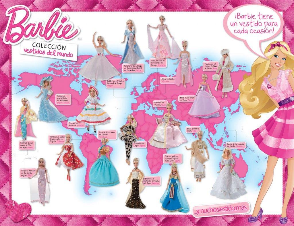 Barbie Vestidos Del Mundo