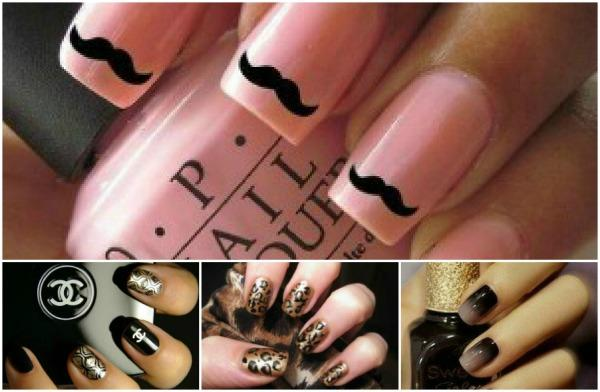la última hasta en la manicura ..... moda en la uñas!!!