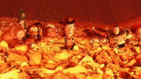 Escena de la muerte en el horno de Toy Story 3