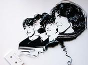 Retratos famosos hechos cintas cassette