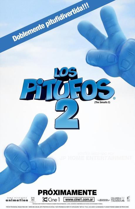 """Cartel- Teaser y primera imagen de """"Los Pitufos 2″"""