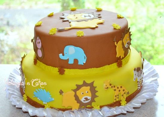 Pasteles de baby shower de animalitos - Imagui