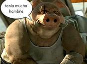 Devorado cerdos