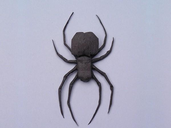 Как сделать из бумаги легкого паука