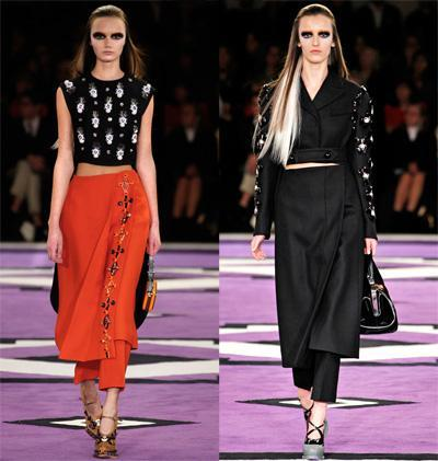 aw12 pantalon y falda prada Tú decides: pantalón + falda, ¿si o no?