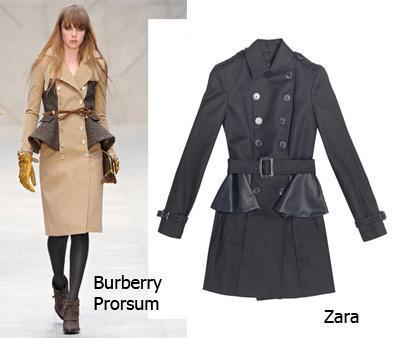 aw12 clones abrigos burberry zara El ataque de los clones: Zara Total Clon