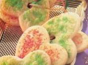 Galletas corona corazones navideños galletas)
