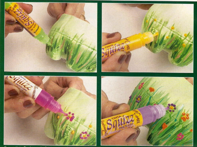Maceteros hechos con botellas de plástico recicladas