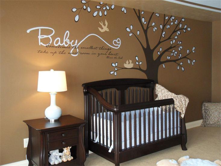 Rboles en la habitaci n de un beb paperblog - Cute colors to paint your room ...