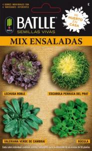 mix ensaladas 184x300 Cultivar vegetales de hoja para ensalada en una jardinera