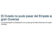 "gran c.d. ourense""... elogios prensa asturiana"