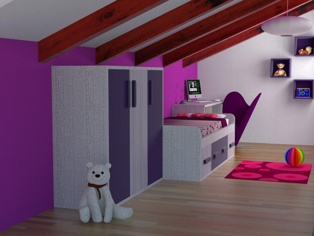 Reforma buhardilla mobiliario y decoraci n en habitaci n - Habitaciones en buhardillas ...
