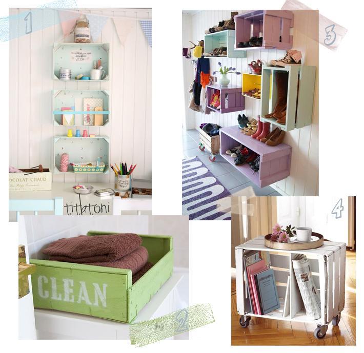 Muebles para bano con cajones de fruta for Muebles para decorar