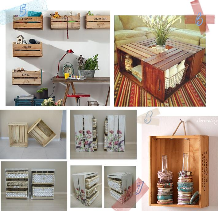 Ideas con cajas de fruta paperblog for Mesa con cajas de fruta