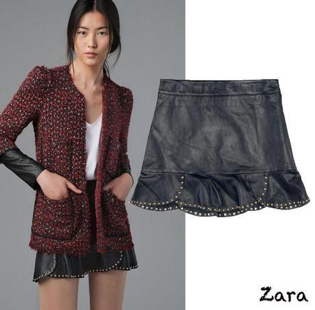 La otra famosa falda de cuero de Zara