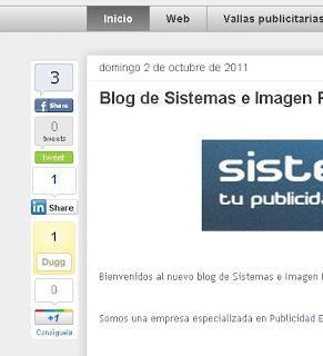 Marcadores Sociales Flotantes para tu blog