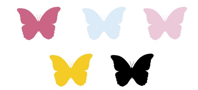 Mariposas para decorar paredes para imprimir imagui - Como hacer mariposas de papel para decorar paredes ...