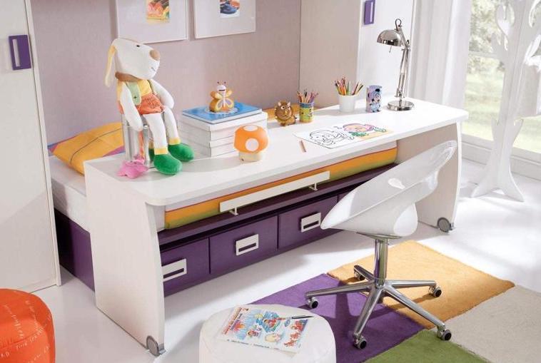 Pin de escritorios cama cajones camas modernas medidas for Habitaciones juveniles para poco espacio