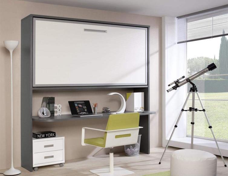 Habitaciones con poco espacio soluci n cama con escritorio integrado paperblog - Soluciones escaleras poco espacio ...