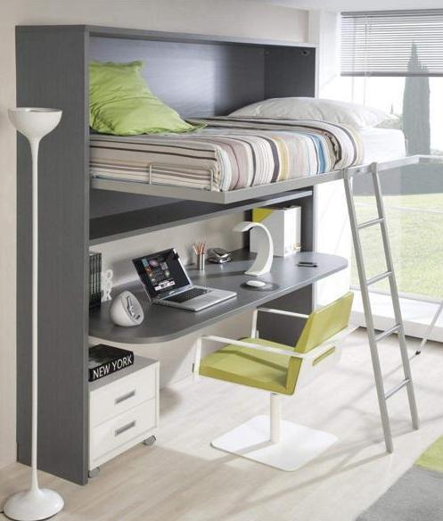 Habitaciones con poco espacio soluci n cama con - Habitaciones infantiles con poco espacio ...