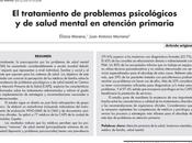 tratamiento problemas psicológicos salud mental atención primaria Moreno Moriana