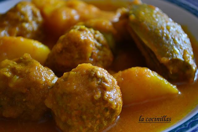 Estofado de patatas albondigas y alcachofas paperblog - Albondigas de patata ...
